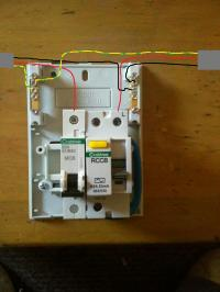 installing rccd and mcb for shower help!! | diynot forums model a wiring diagram nordyne fehb unit on 017ha wiring diagram garage consumer unit
